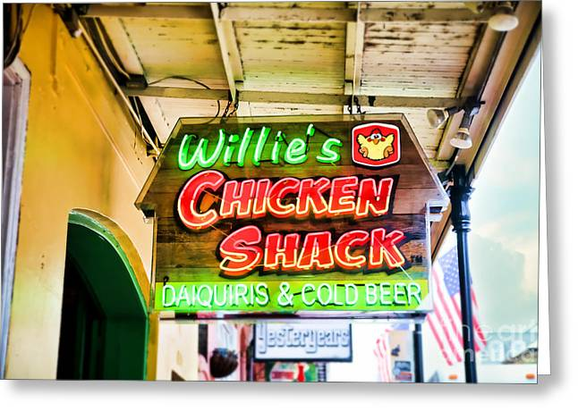 Willie's Chicken Shack Greeting Card by Sylvia Cook