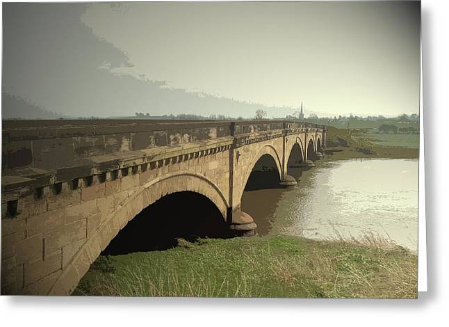 Willington Bridge, A Fine 5-arched Bridge Which Was Built Greeting Card by Litz Collection