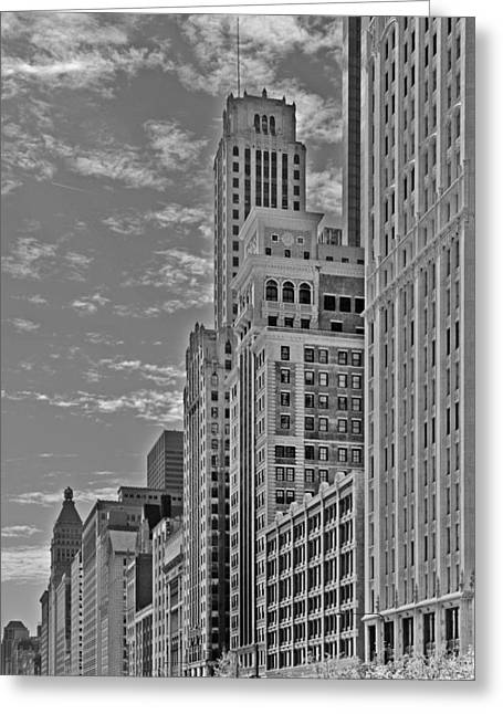 Willoughby Tower And 6 N Michigan Avenue Chicago  Greeting Card by Christine Till