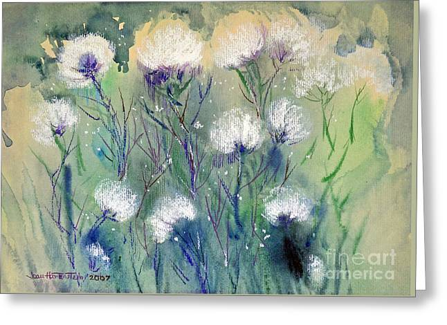 Willowy Whites Greeting Card