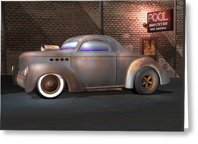 Willys Street Rod Greeting Card