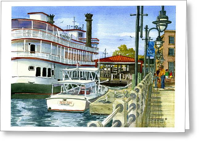 Wilmington Dock Greeting Card