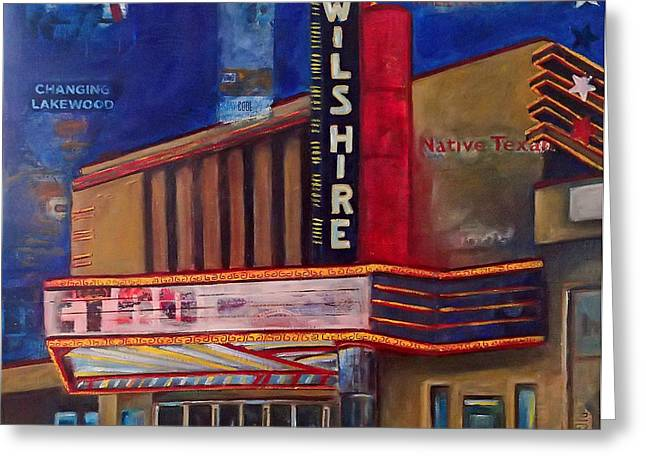 Wilshire Theater Greeting Card by Katrina Rasmussen