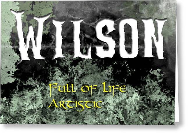 Wilson - Full Of Life Artistic Greeting Card by Christopher Gaston