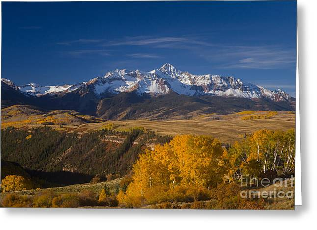 Wilson Peak In The Fall Greeting Card
