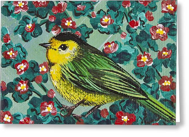 Wilson's Warbler Mini Greeting Card