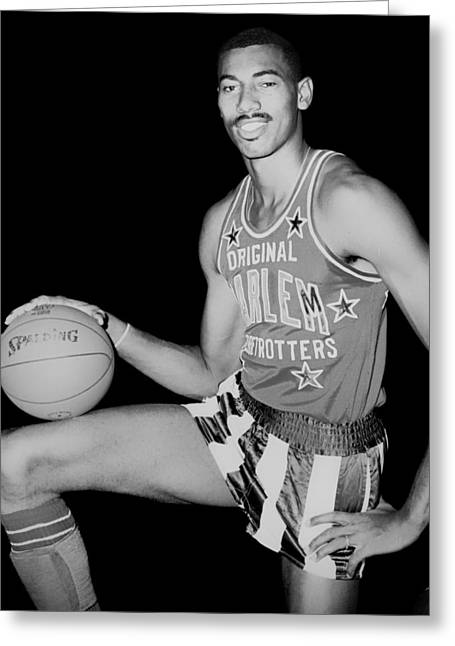 Wilt Chamberlain As A Member Of The Harlem Globetrotters  Greeting Card