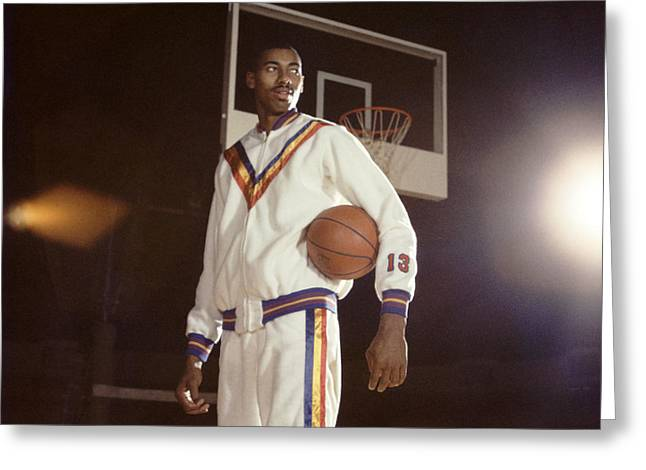 Wilt Chamberlain In Warmups Greeting Card