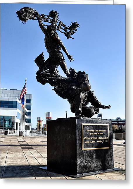 Wilt Chamberlain Statue Greeting Card