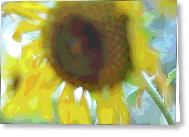 'wilted' Abstract Greeting Card