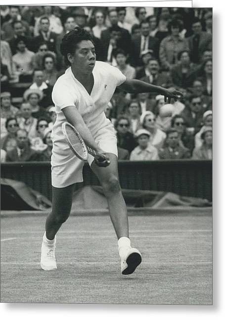 Wimbledon Championships - Second Day..., Althea Gibson In Greeting Card by Retro Images Archive