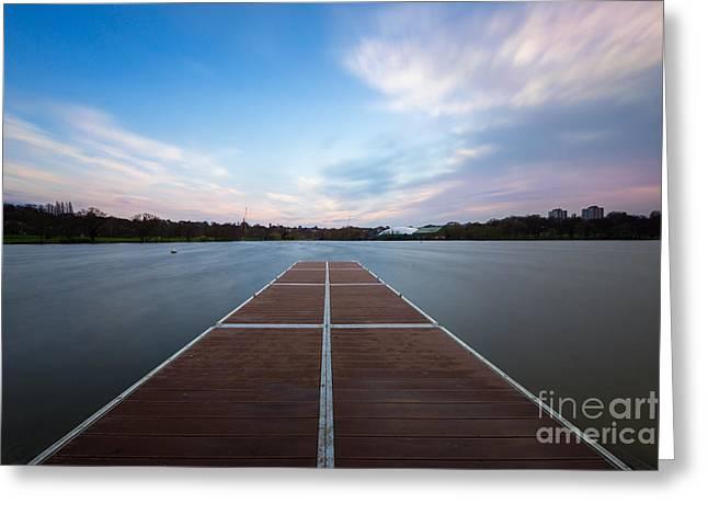 Wimbledon Park Sunset Greeting Card by Matt Malloy