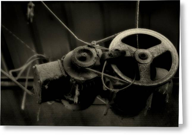 Winch And Pulley Greeting Card by Doc Braham