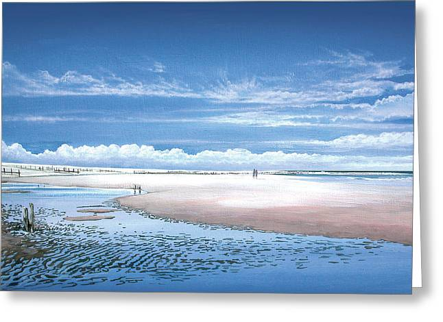 Winchelsea Beach Greeting Card by Steve Crisp