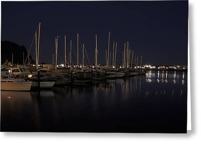 Winchester Bay Marina - Oregon Coast Greeting Card by Daniel Hagerman