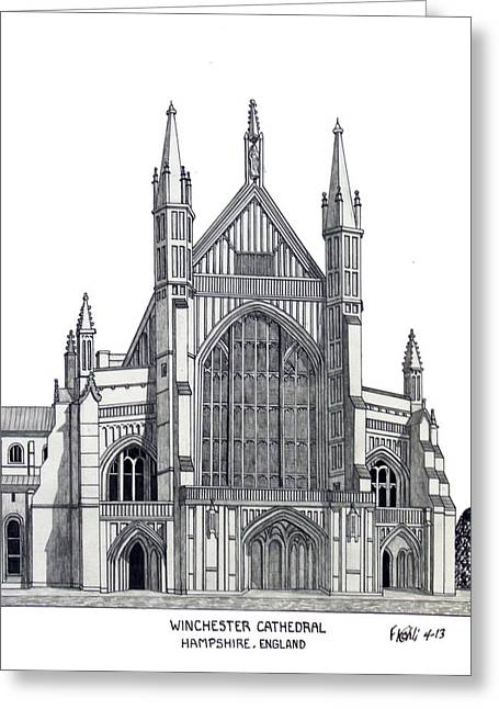 Winchester Cathedral Greeting Card
