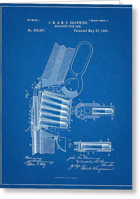 Winchester Magazine Firearm Patent Greeting Card