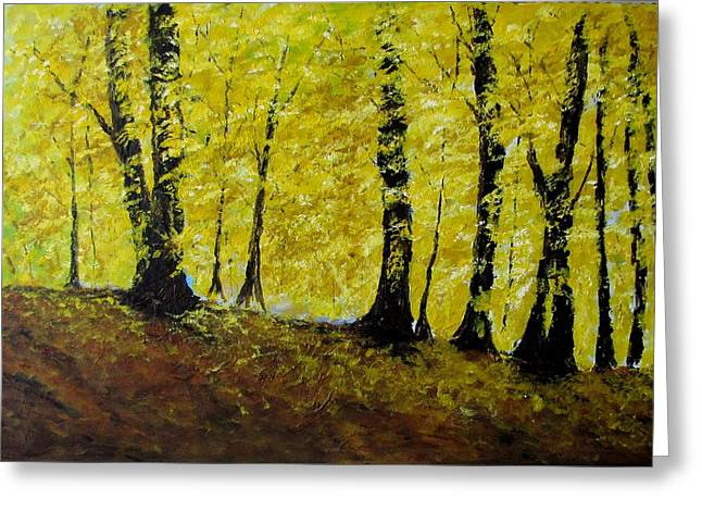 Wind Among Trees Greeting Card by Vicki Conlon