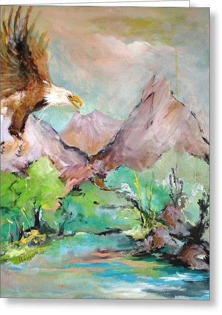 Wind Beneath My Wings Greeting Card by Mary Spyridon Thompson
