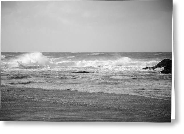 Wind Blown Waves Tofino Greeting Card