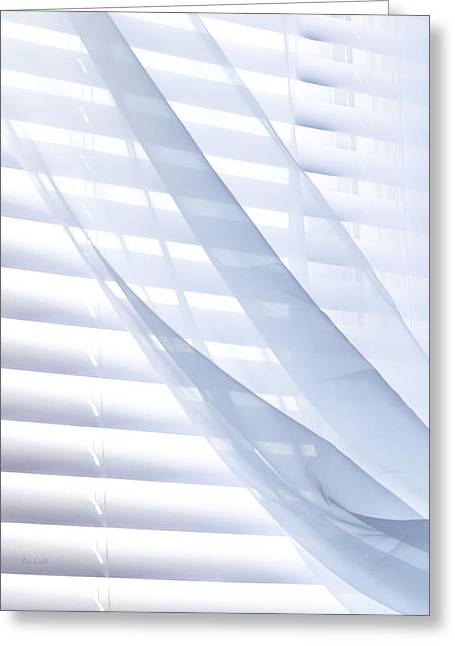 Wind Blue Window Greeting Card by Bob Orsillo
