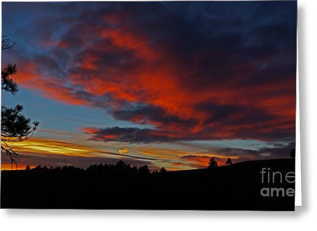 Black Hills Sunset Greeting Card