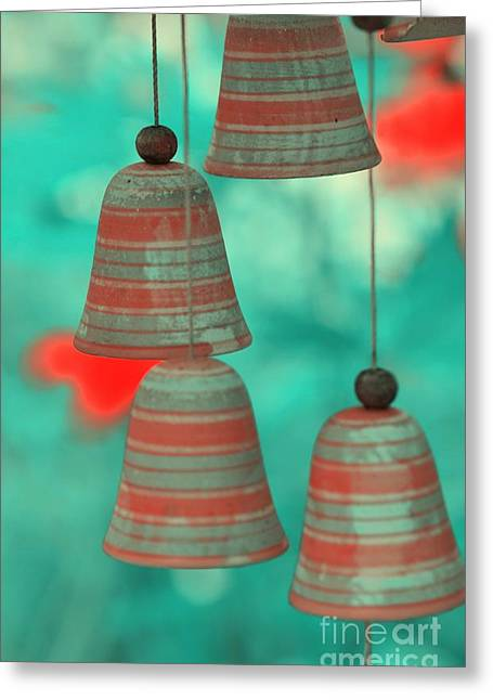 Wind Chimes Greeting Card by Kathleen Struckle