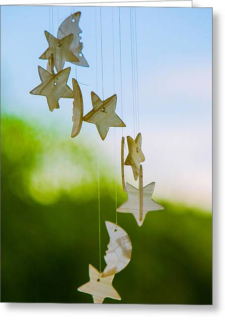 Wind Chimes Greeting Card by Tommy Farnsworth