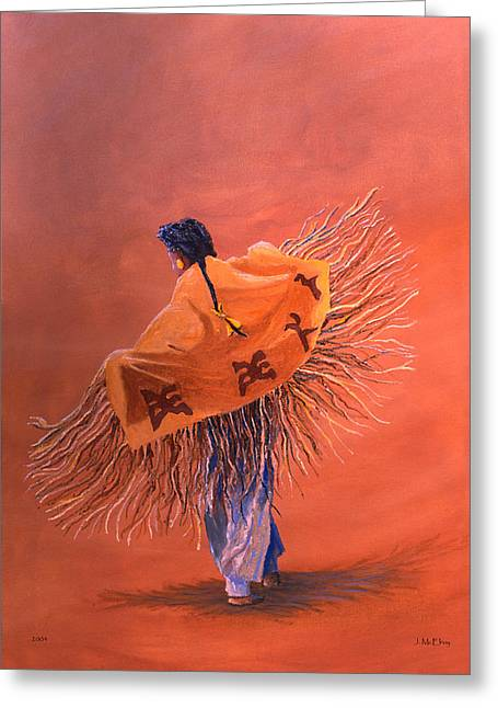 Wind Dancer Greeting Card by Jerry McElroy