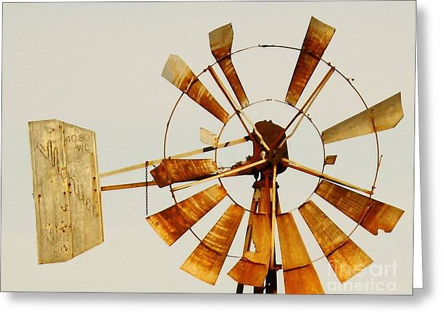 Wind Driven Rust Machine Greeting Card