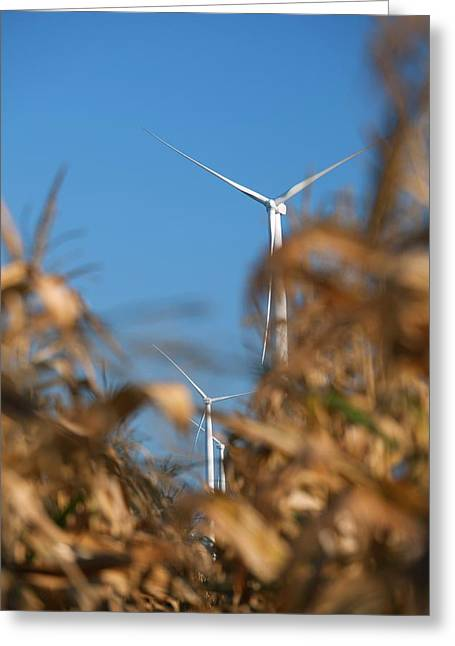 Wind Farm Greeting Card by Jim West