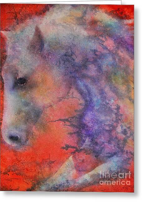Wind Horse Greeting Card by Robert Hooper