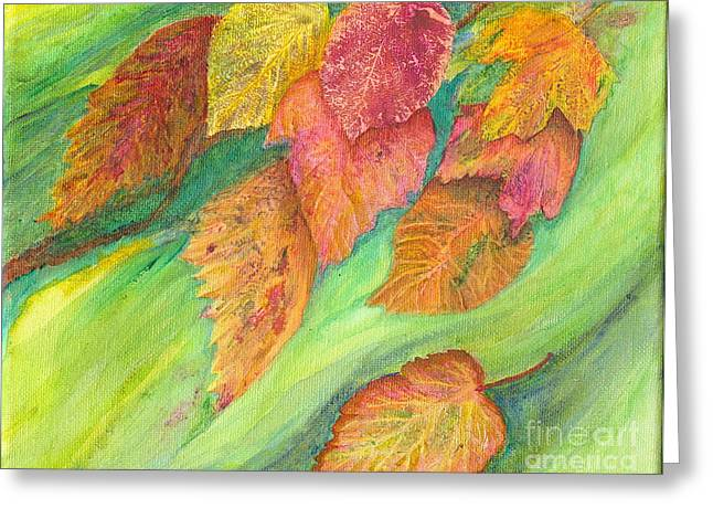 Wind In The Leaves Greeting Card