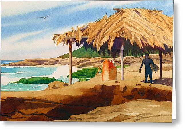 Wind 'n Sea Beach La Jolla Greeting Card