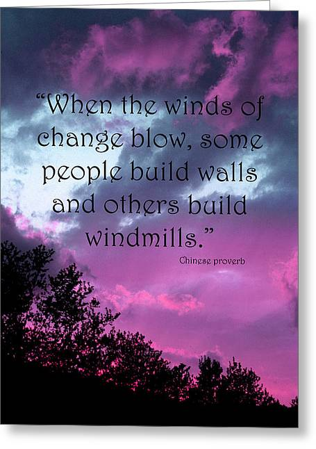 Wind Of Change Greeting Card by Angela Bruno