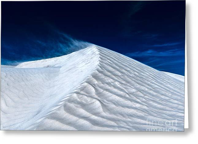 Wind Over White Sands Greeting Card