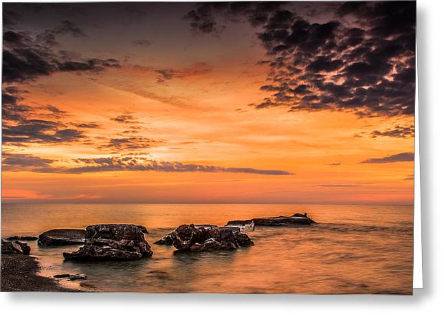 Wind Point Sunrise Greeting Card