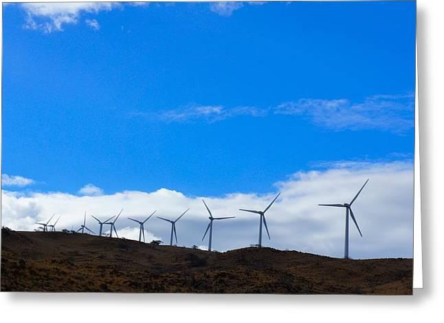Wind Power Greeting Card by Art Spectrum
