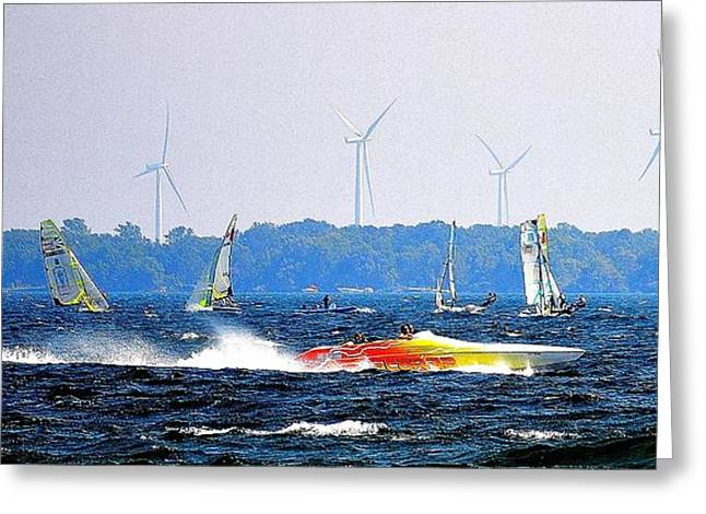 Wind Sails Power Greeting Card