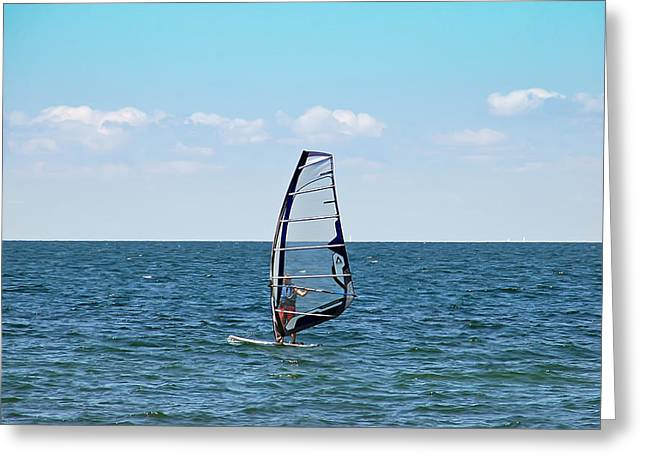 Wind Surfer Greeting Card by Aimee L Maher Photography and Art Visit ALMGallerydotcom