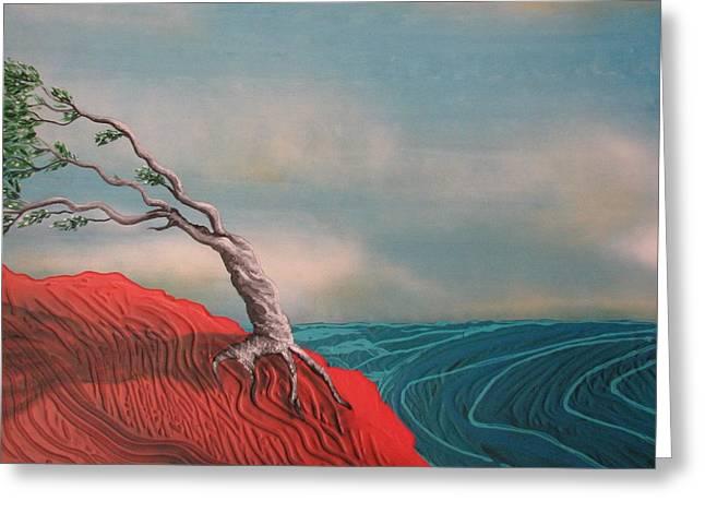 Wind Swept Tree Greeting Card