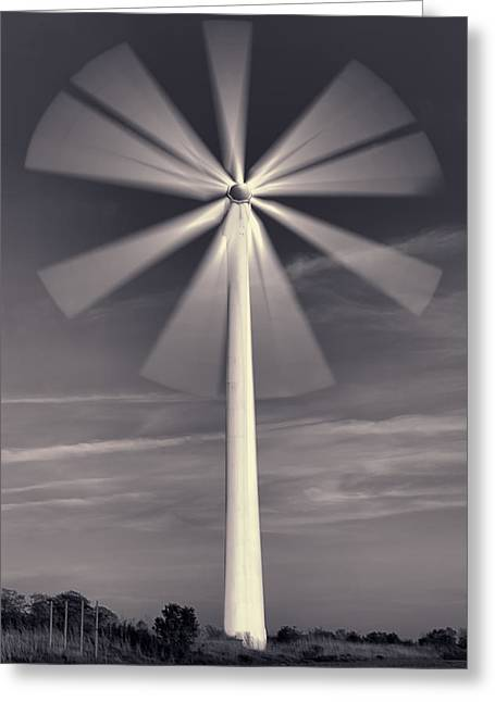 Wind Turbine Flower Greeting Card by EXparte SE