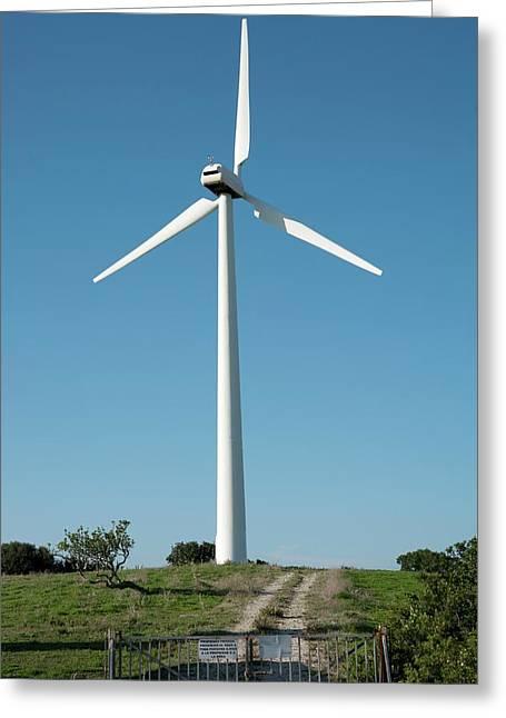 Wind Turbine Greeting Card by Jon Wilson