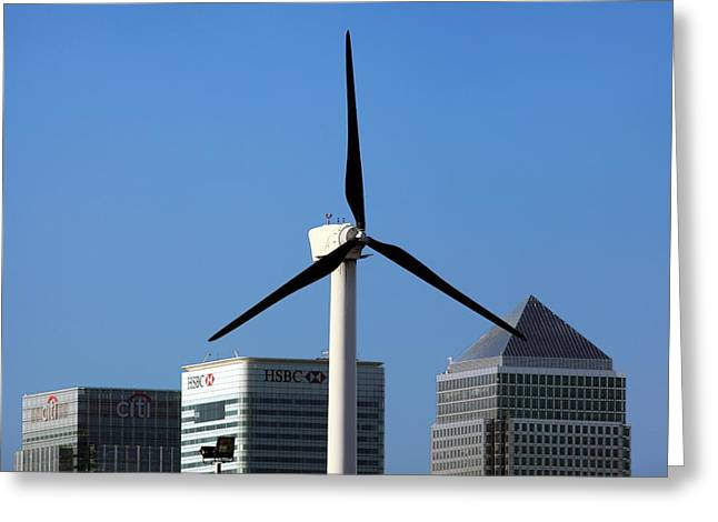 Wind Turbine Greeting Card by Martin Bond