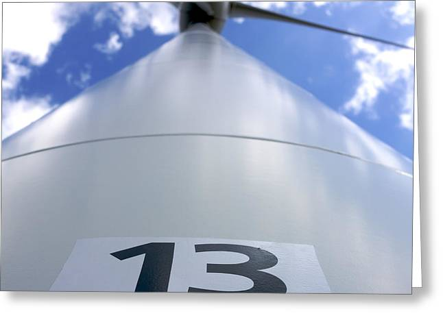 Wind Turbine. No 13 Greeting Card by Bernard Jaubert