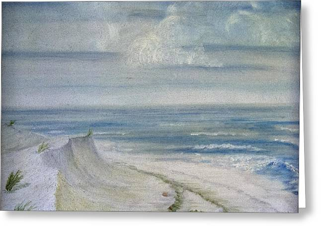 Windblown Greeting Card by Judy Hall-Folde