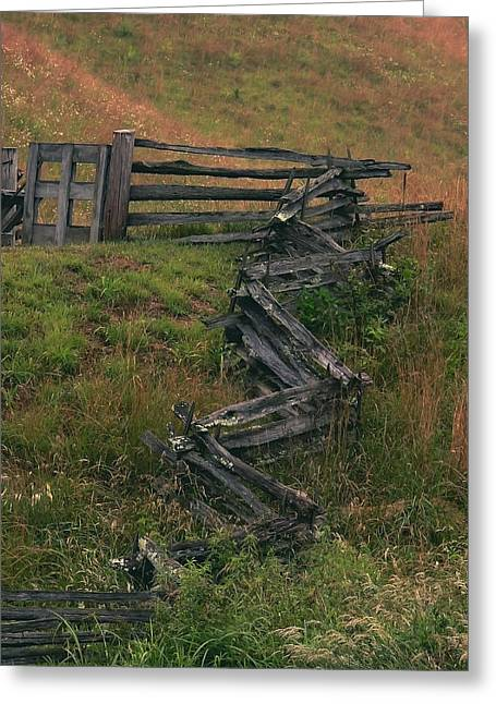 Winding Fence Greeting Card by Bill Marder