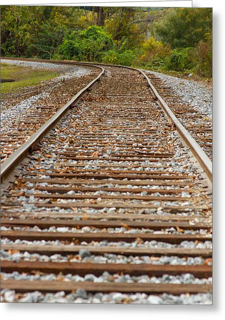 Winding Rails Greeting Card by Heather Roper