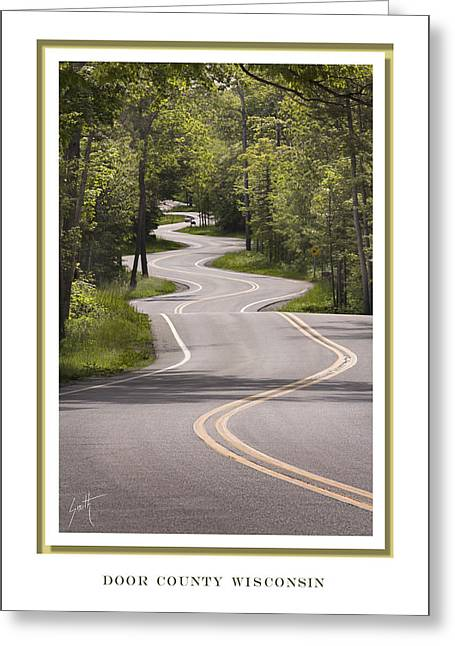 Winding Road Door County Greeting Card by Barbara Smith