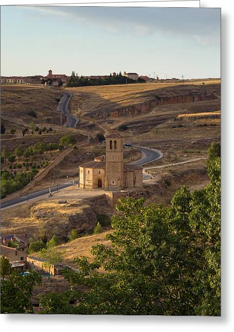 Winding Segovia Roads Greeting Card by Viacheslav Savitskiy